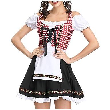 Goosun Vestido Dirndl Disfraz de Bávara para Oktoberfest Festival ...