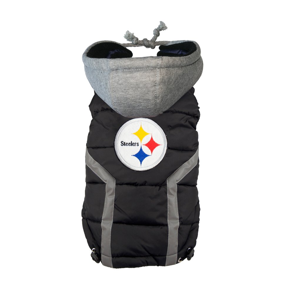NFL Pittsburgh Steelers Dog Puffer Vest, XX-Large