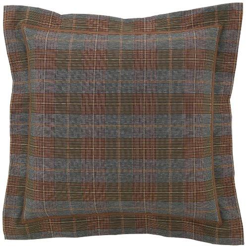 Euro Plaid Comforter (Croscill Caribou 27 by 27-Inch Sham, Euro, Multi)