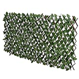 lattice under deck FASHION GARDEN Fence Expandable Faux Ivy Privacy Fence Artificial Hedge 39x78 INCH Single Sided Colour Leaves Green