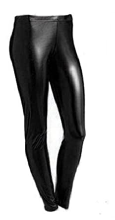 8ec6bf1cf6ad2 ADMIRE Womens Ladies Party Clubbing Foil Shiny Leggings Disco Dance Wear  PVC Wet Look: Amazon.co.uk: Clothing