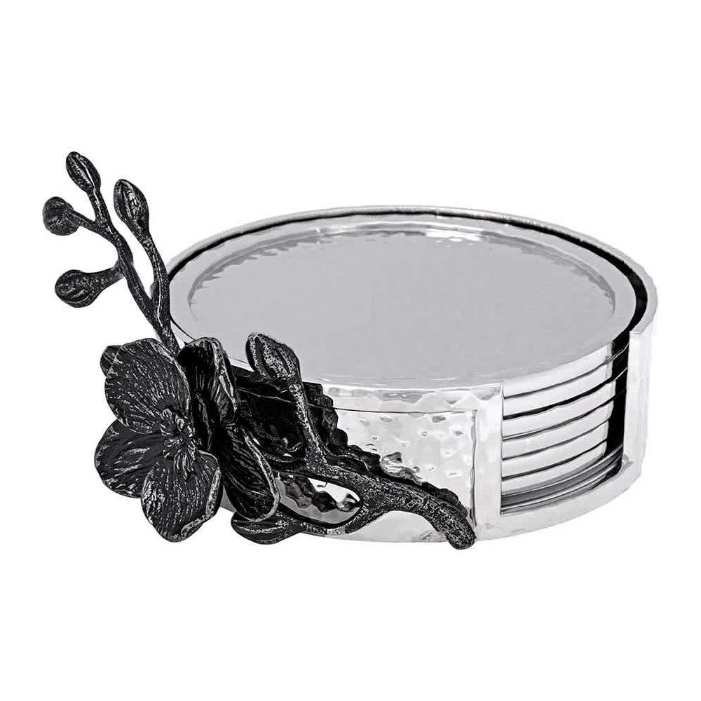 Michael Aram Black Orchid Drink Coaster Set by Michael Aram