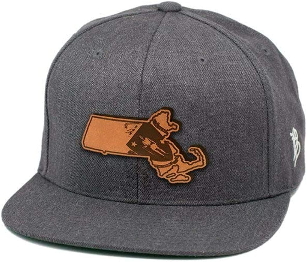 Branded Bills Massachusetts The 6 Leather Patch Hat