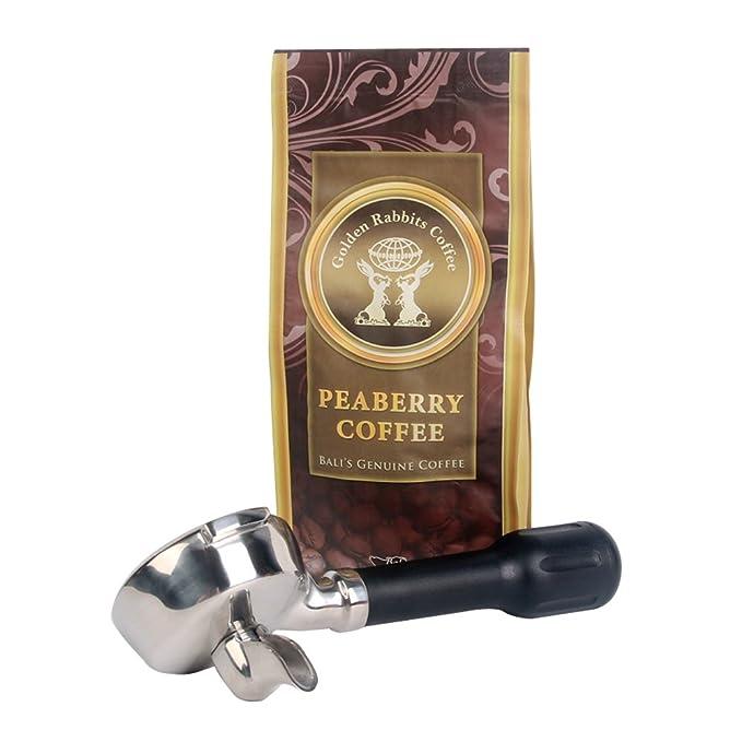 Portafiltro sin fondo para máquinas de café CREM EXPOBAR, bandeja de goteo profesional para cafetera, filtro, 2 boquillas, diámetro interior de 58 mm, ...