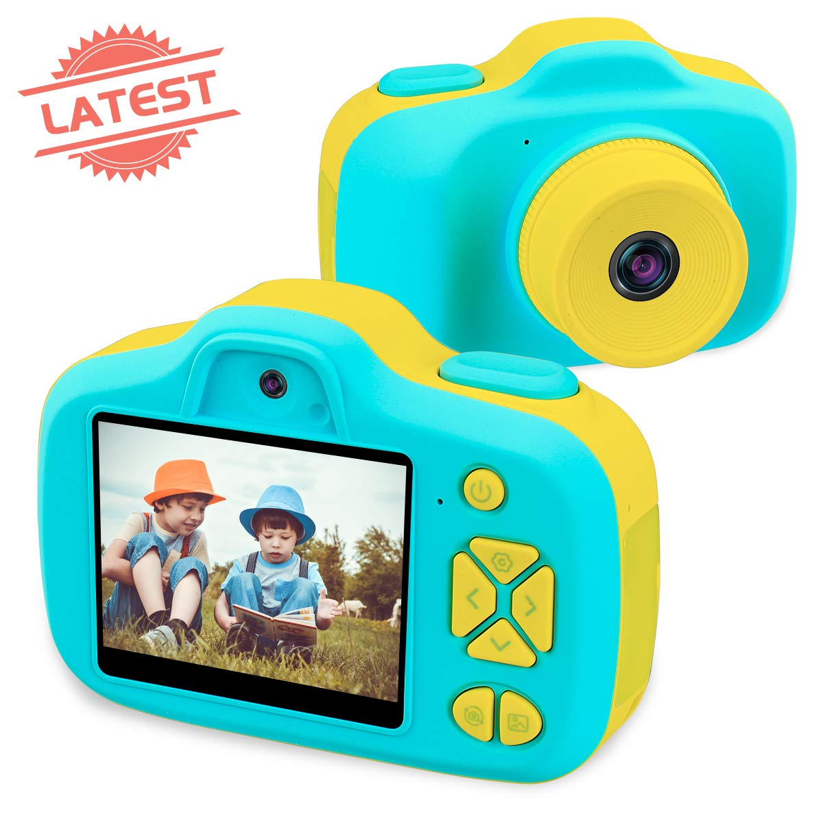 Joytrip Kids Digital Cameras for Boys Gifts HD 2.3 Inches Screen 8.0MP Video Camera for Kids Shockproof Children Selfie Toy Camera Anti-fall Mini Child Camcorder for Age 3-14 with Soft Material (Blue) by Joytrip (Image #1)