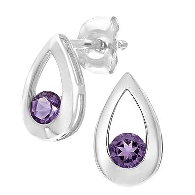 White gold tear drop earrings 9 carat