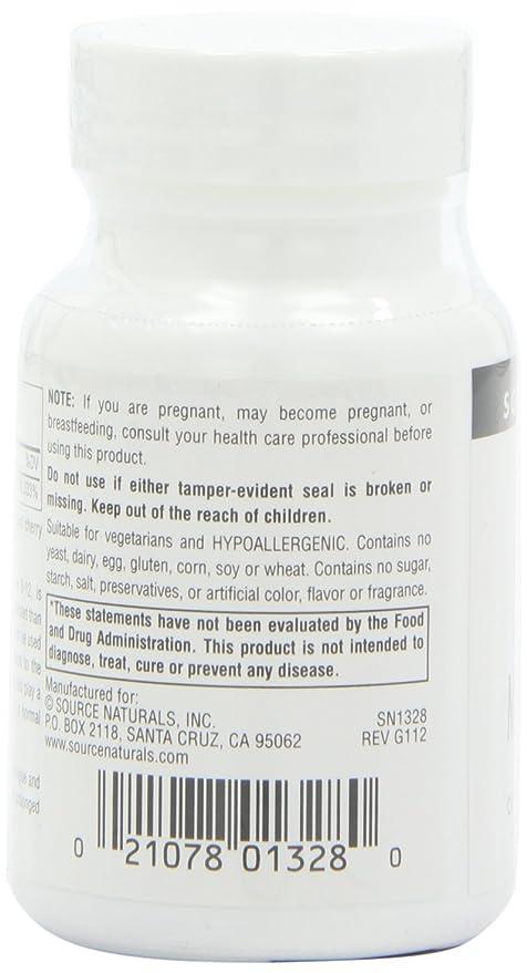 Source Naturals - metilcobalamina vitamina B-12 Sublingual cereza 5 mg. - 30 tabletas: Amazon.es: Salud y cuidado personal