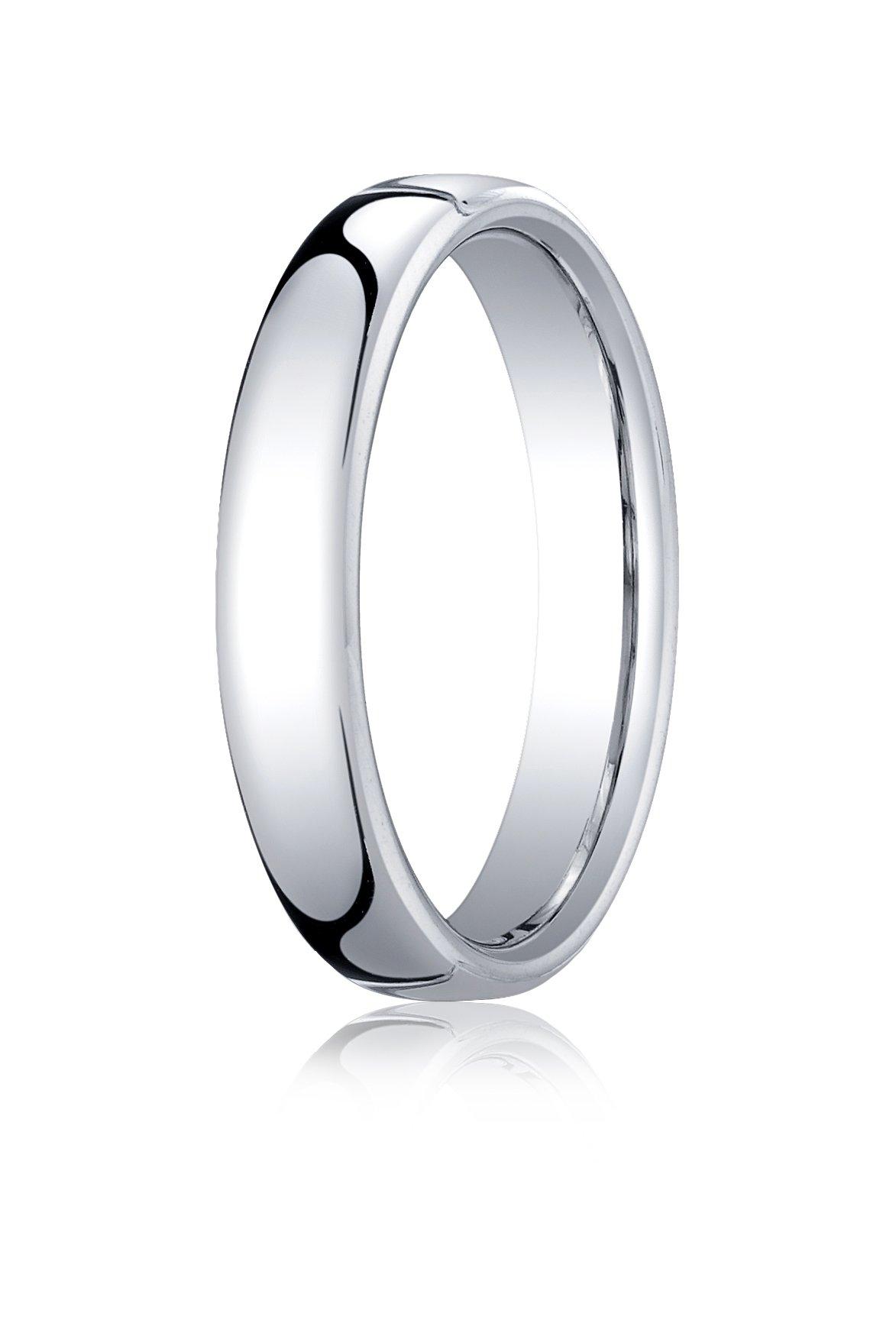 Mens Platinum, 4.5mm London Couture Comfort-Fit Ring (sz 7.5)
