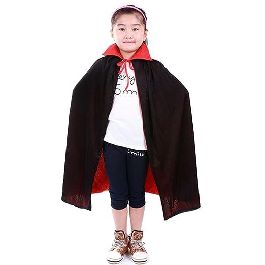 Amazon.com  Kangkang  Vampire Dracula Cloak Cape for Children Kid Halloween  Party Cosplay Fancy Dress Costume 90cm Long Black Red Reversable  Clothing ce274b136b7c7