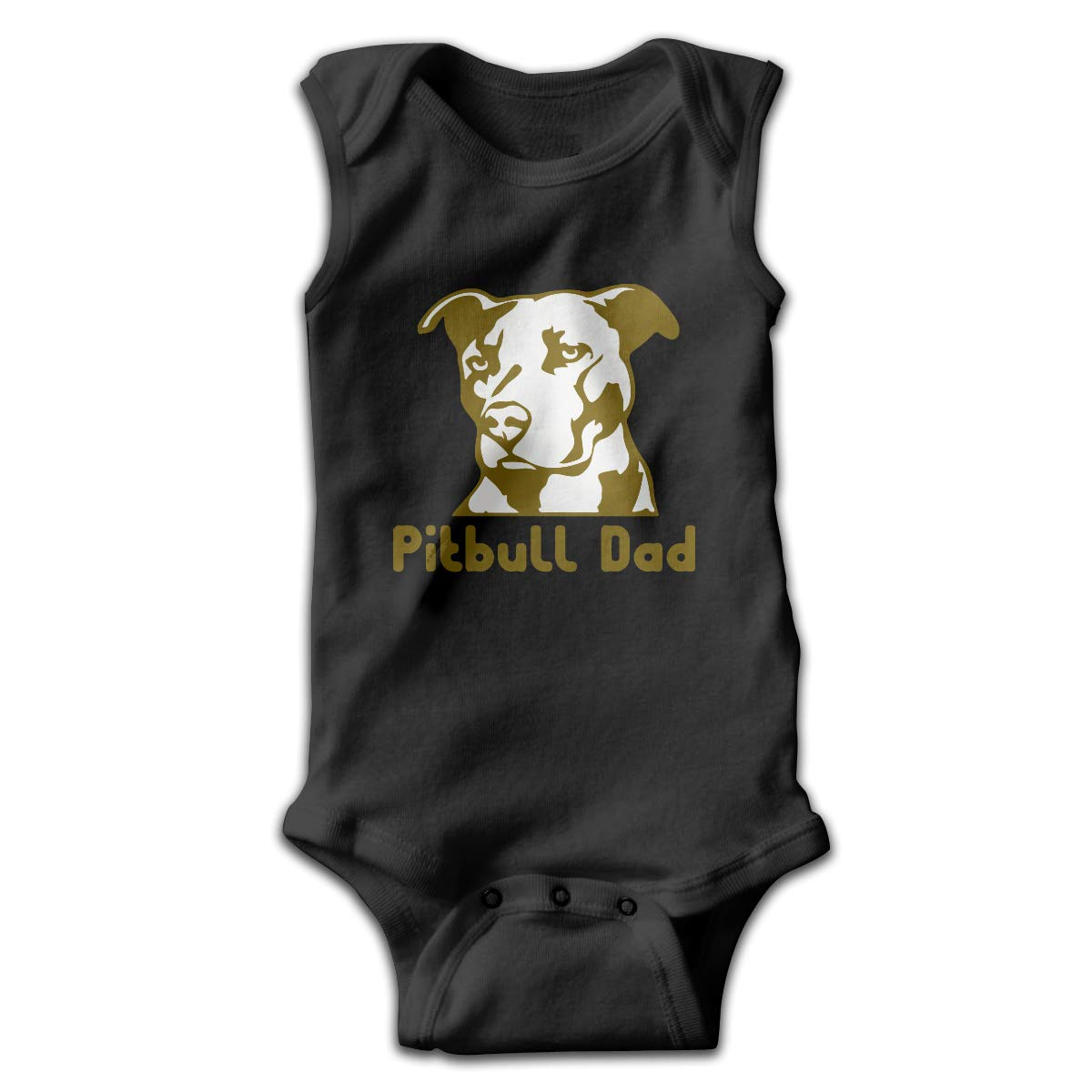 H@PAPA01 Pitbull Dad Newborn Sleeveless Pajamas Sleepwear