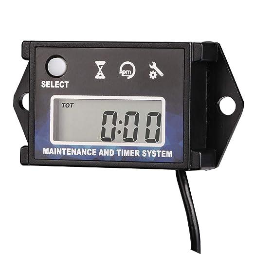 AIMILAR - Tacómetro Digital para medir Horas y Horas de ...