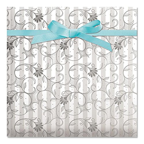 Wedding Jumbo Rolled Gift Wrap - 67 sq. ft. Heavyweight, Tear-Resistant and peek-Proof wrap, Wedding Wrapping Paper, Anniversary Gift Wrap