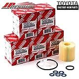 Genuine OEM Lexus Toyota 04152-Yzza1 Oil Filters + Drain Plug Gaskets - Set Of 5