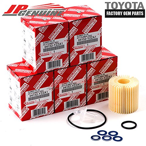 Genuine OEM Lexus Toyota 04152-Yzza1 Oil Filters + Drain Plug Gaskets - Set Of 5