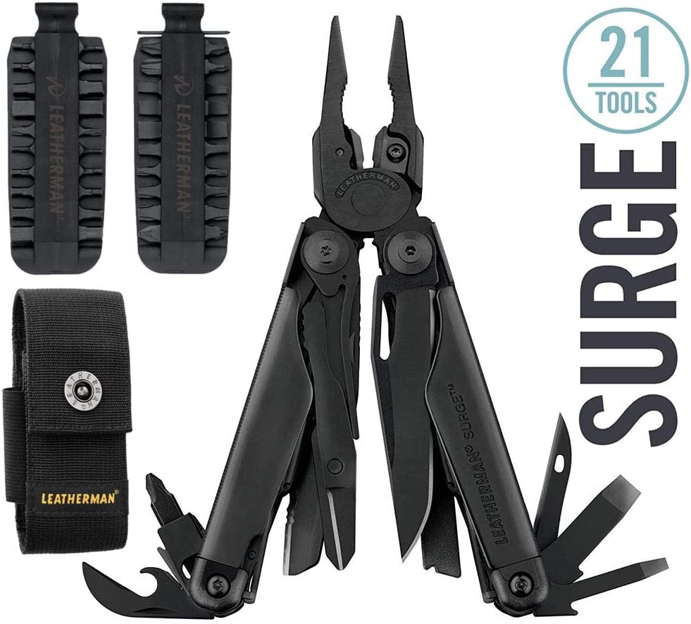 LEATHERMAN – Surge Heavy Duty Multi-Tool, Black with Premium Nylon Sheath Leatherman 42 Piece Bit Kit Set