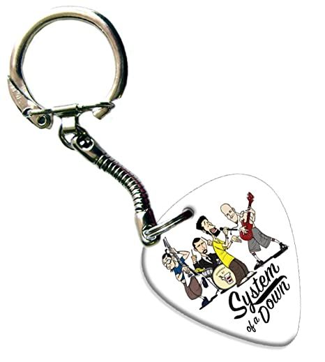 System of a Down Guitarra Pick Llavero Keychain Band Púa ...
