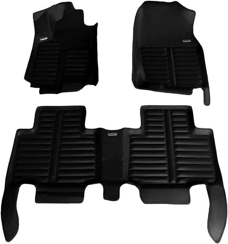 The Ultimate Winter Mats Full Set - Black Waterproof Largest Coverage TuxMat Custom Car Floor Mats for Toyota RAV4 Hybrid 2013-2018 Models/ - Laser Measured Also Look Great in the Summer./ The Best/ Toyota RAV4 Accessory. All Weather