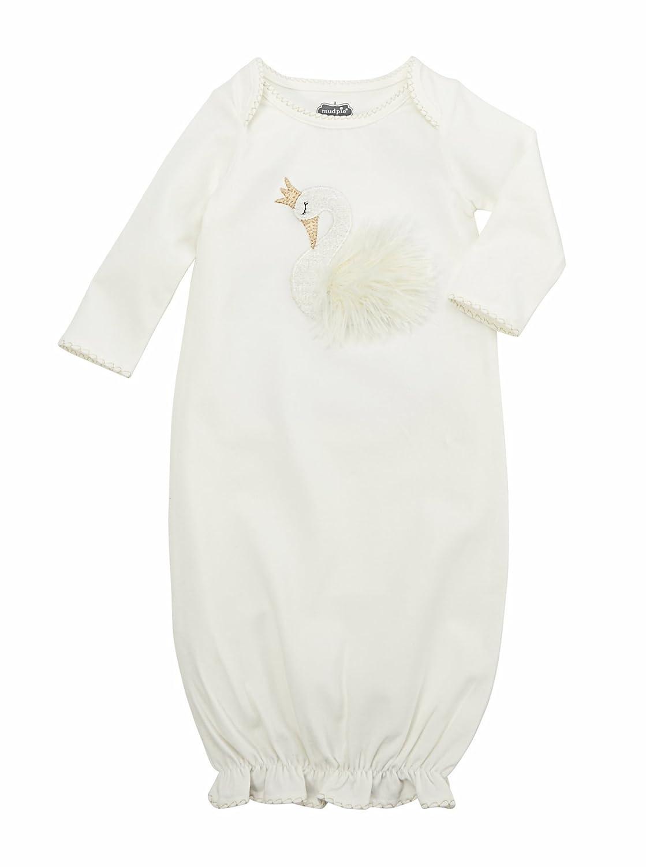 Mud Pie Womens Swan Sleep Gown (Infant) 11060014