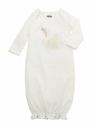 0c9945f6d Amazon.com  Mud Pie Womens Swan Sleep Gown (Infant)  Clothing