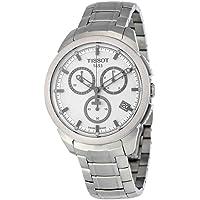Tissot Chronograph Silver Dial Titanium Mens Watch