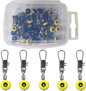 50pcs Fishing Sinker Slides Hook Shank Clip Connectors Fishing Slider Rig