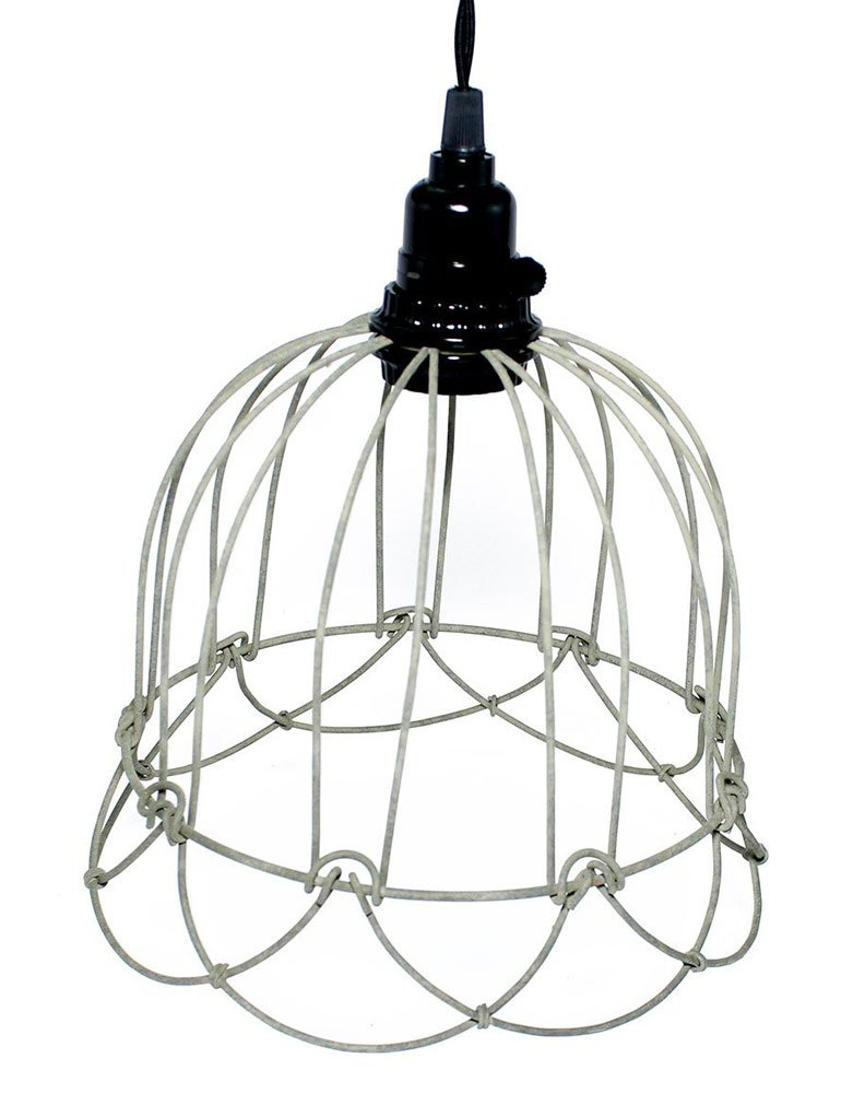 Wire Bell Pendant L& in Barn Roof Finish - Ceiling Pendant Fixtures - Amazon.com  sc 1 st  Amazon.com : wiring for pendant lights - yogabreezes.com
