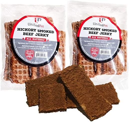 Unified Pet Beef Jerky Dogs-Hickory Smoked