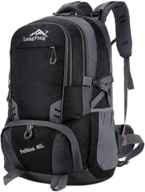 Large Hiking Backpack Outdoor Camping Travel Sports Climbing Nylon Bag New