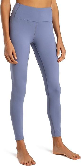 Splendor flying Womens Yoga Capri Legging Inner Pocket Non See-Through Fabric Leggings