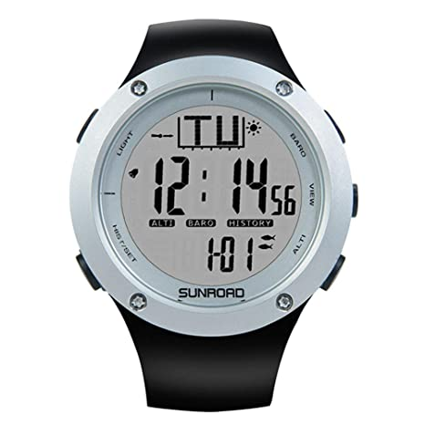Awakingdemi Reloj de Pulsera SUNROAD Smart Digital Sports Watch Pesca Barómetro (FR722A)