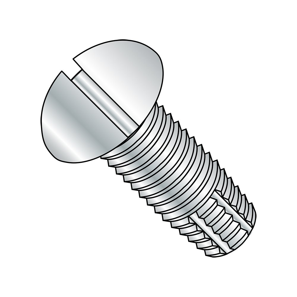 Steel Thread Cutting Screw Zinc Plated Finish #6-32 Thread Size Slotted Drive Small Parts 0604FSR Pack of 50 Pack of 50 Round Head Type F 1//4 Length 1//4 Length