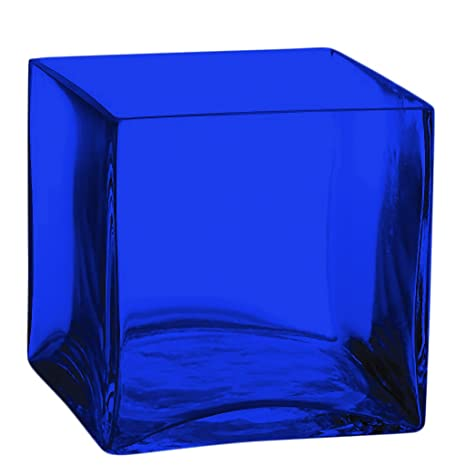 Amazon Square Glass Vase 5 Inch Clear Cube Center Piece