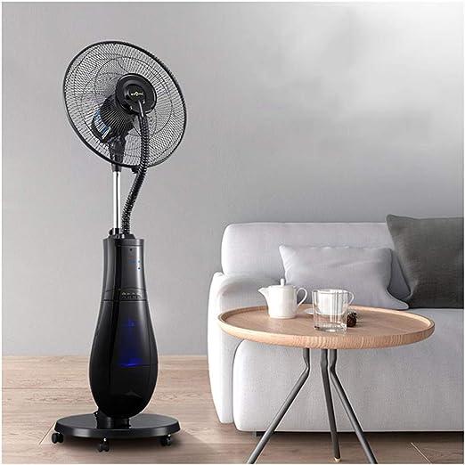Ventilador Nebulizador Humidificador Ventilador eléctrico Soporte de Pedestal Ventilador de nebulización Manténgase Fresco 3 velocidades Oscilante Girando automáticamente la Velocidad del Viento par: Amazon.es: Hogar
