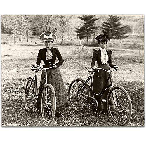 Lone Star Art - Foto clásico para Bicicleta, diseño Victoriano de 1890 – 11 x 14 sin Marco, Perfecta para decoración del...