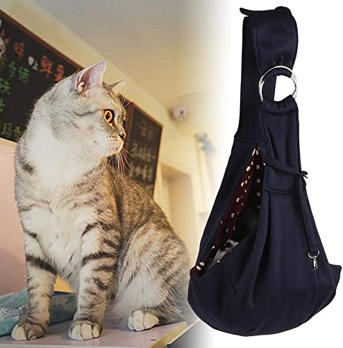 Hffheer Pet Sling Carrier Pet Small Animal Shoulder Carry Soft Comfortable Pet Dog Cat Hands-Free Sling Reversible Puppy Small Animal Double-Sided Pouch Shoulder Carry Tote Handbag