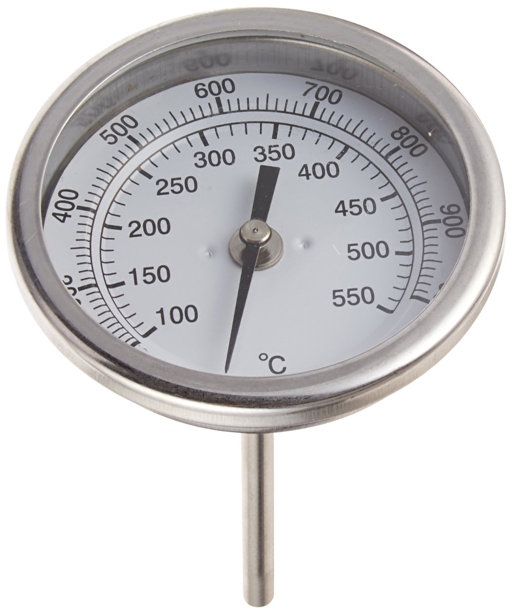 """PIC Gauge B3B4-MM 3/"""" Dial Size Stainless Steel Case Back Angle Connection 50//300/°F and 10//149/°C 4 Stem Length 316 Stainless Steel Stem Bimetal Thermometer"""