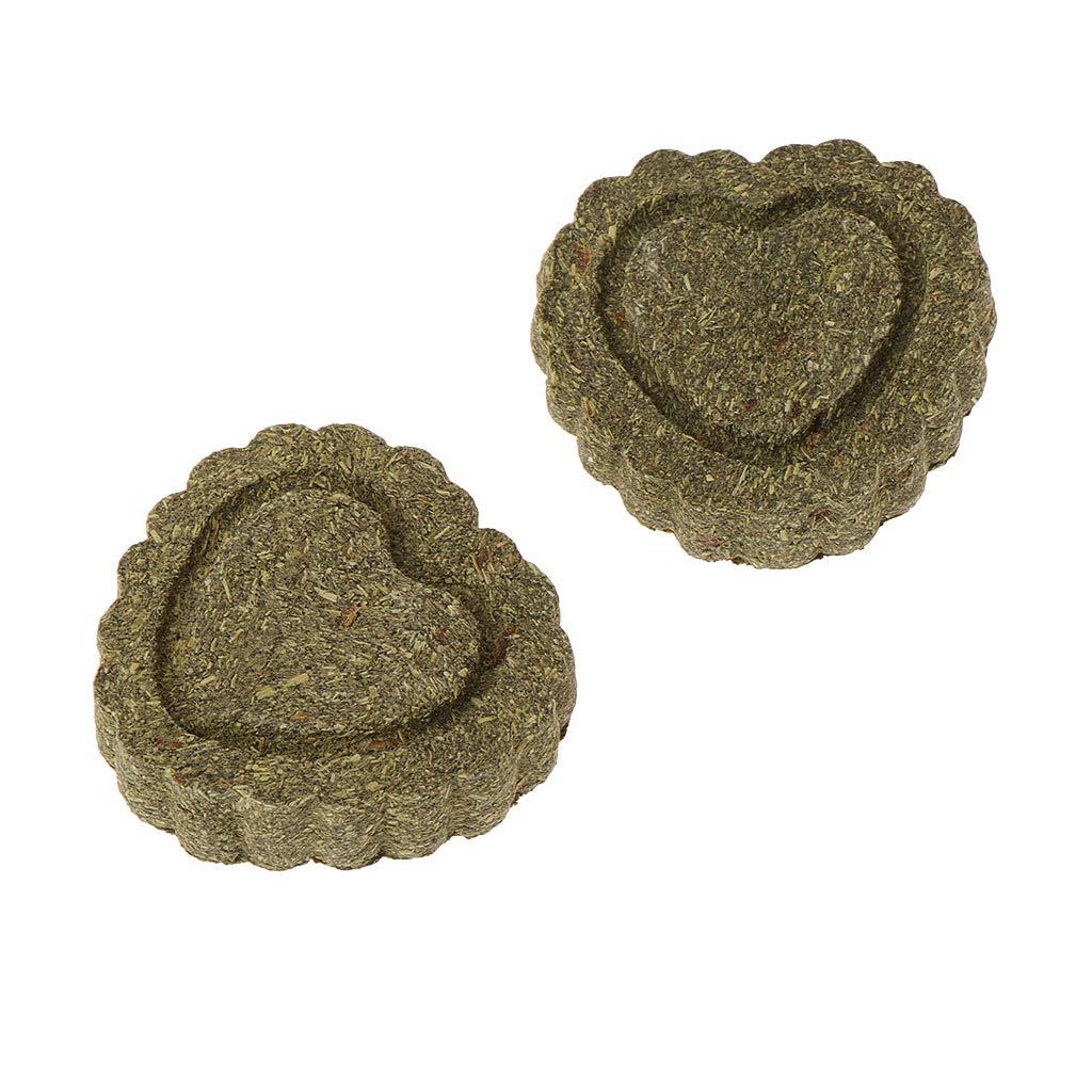 Biniwa–Lot de 2Petits Animaux meulage Dents Cake Cookie, pour Plus de Petits Animaux Lapin Chinchilla Cochon d'Inde Cochon, Naturel Treat Dents à mastiquer