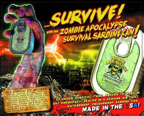 Shape Up, Training Zombie Apocalypse Survival Kit in a Sardine Can Fitness, Sport, Exercise (Zombie Survival Can compare prices)