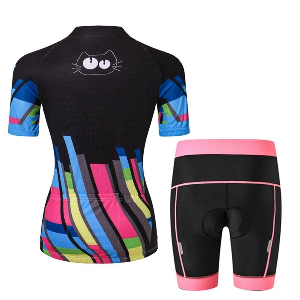 Amazon.com  Weimostar Women s Cycling Bike Short Sleeve Cycling Jersey  Shorts Set  Clothing 1c62a0c05