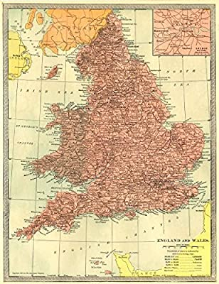 Map Of England Please.Amazon Com England And Wales Inset Map Of London And Vicinity