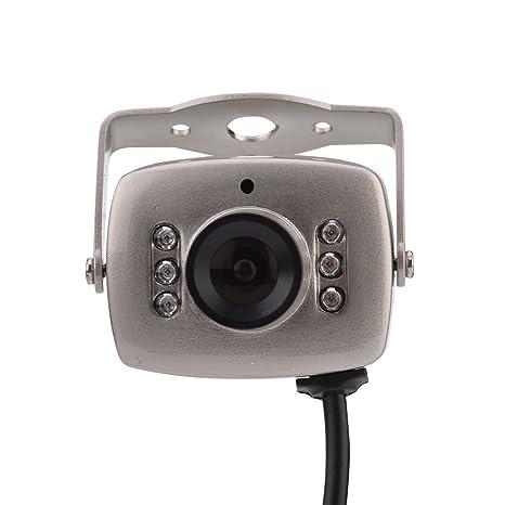 Vbestlife Mini CMOS Cámara de Seguridad de Visión Nocturna 6LED con Cable Cámara Exterior de Vídeo