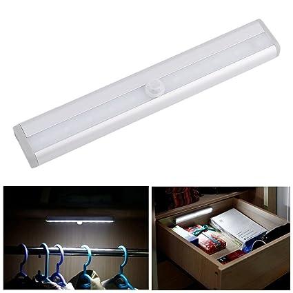 Alto Brillo TDL-7120 10 LED IR Detector de Movimiento Infrarrojo Sensor Inalámbrico Iluminación Closet