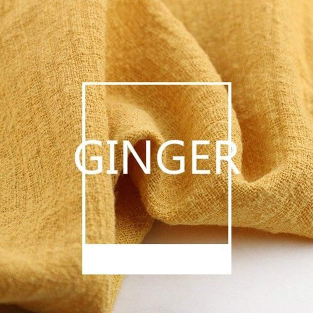 130/x 100/cm panno morbido colore puro di ottima qualit/à tessuto di lino per professionale Ginger Taglia libera Panno di lino