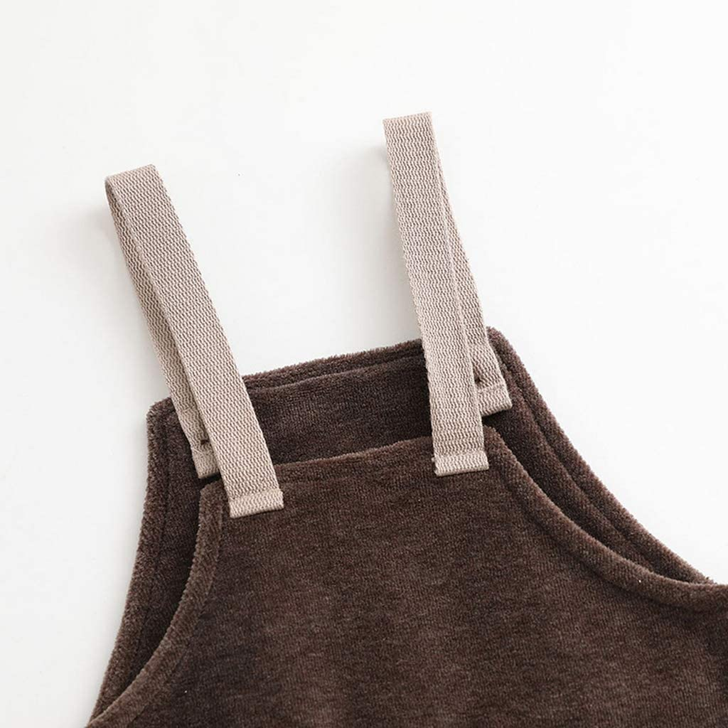 marc janie Little Boys Autumn Fashion Velvet Overalls Baby Pants