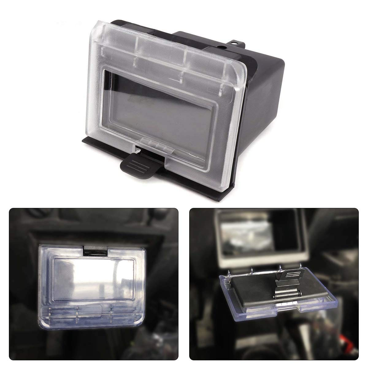kemimoto RZR Center Dash Storage Box, ABS Center Compartment for Polaris RZR 1000 900S 2014-2018