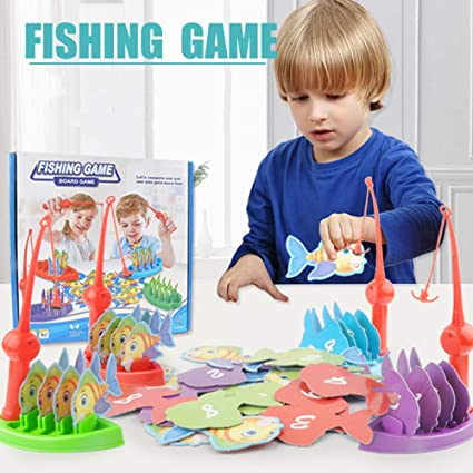737d1cdd429 CHAFIN Fishes Basic Educational Development Wooden Magnetic Bath Fishing  Travel Table Game