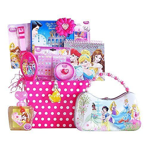Disney Princess Christmas Gift Baskets Classic And Perfect Christmas Gift Basket For Kids Specially For Girls 3-8 Years Old Grand Childrens