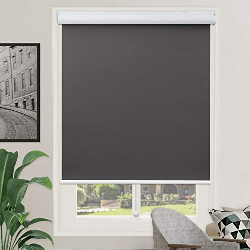 Grey Blackout Shades Roller Shade Window Blind