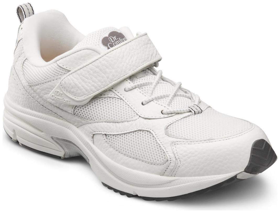 Dr. Comfort Endurance Men's Therapeutic Diabetic Extra Depth Shoe: White 10.0 Wide (E/2E) Elastic Lace w/Strap