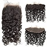 Cheap FDshine Ear to Ear Frontal Water Wave Lace Frontal Closure with Baby Hair Brazilian Hair Frontals 13×4 (12″, Free Part)